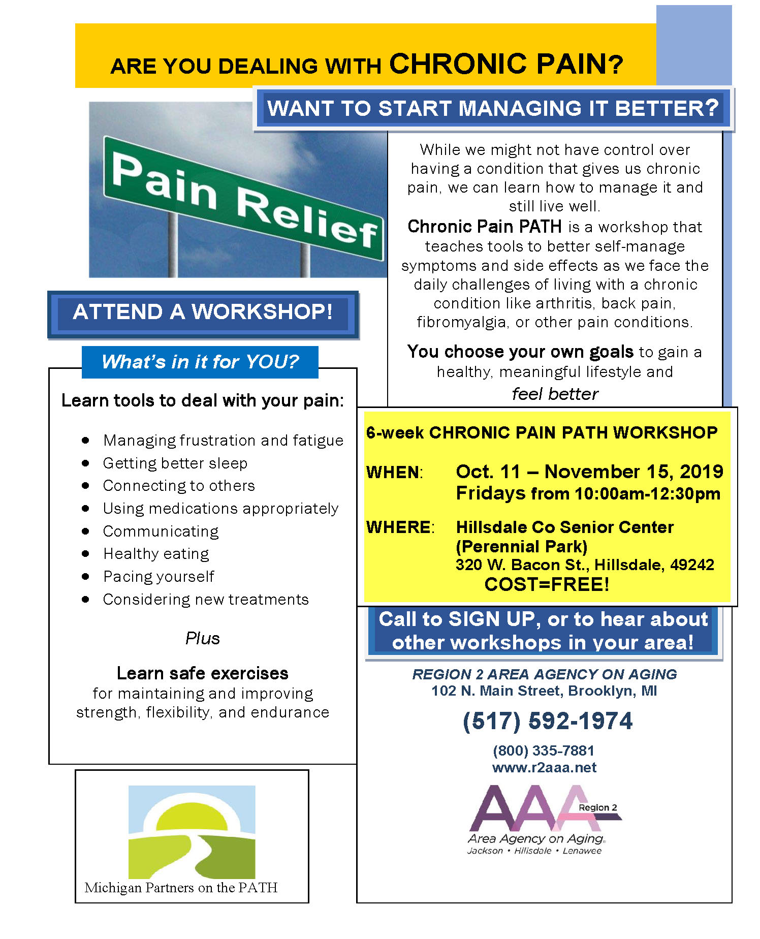 Chronic Pain PATH Flyer Oct 2019
