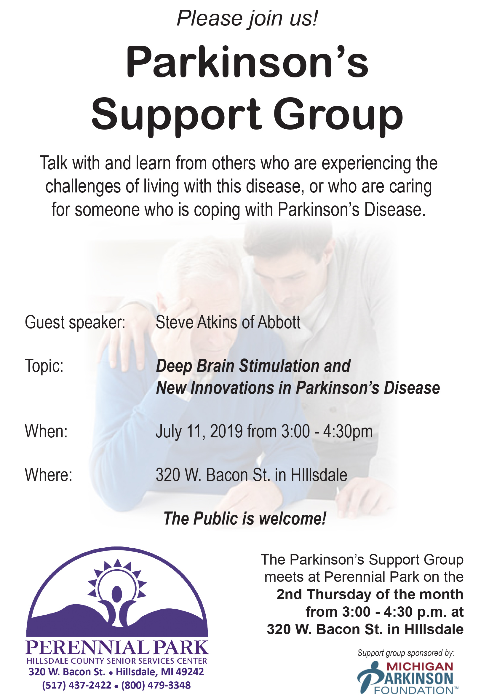 Parkinsons Support July 2019