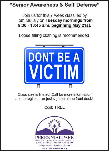 Senior Awareness Self Defense May 2019