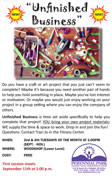 unfinished business flyer